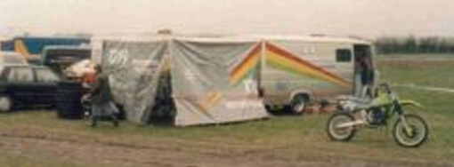 GH Motorcycles trading from the Van, at a schoolboy event