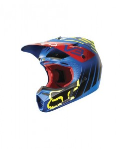2015 Fox V3 Helmet - Savant Blue