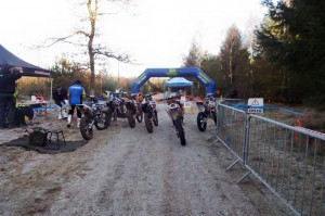 Frost on the ground before the start of Rd 1 of the Eastern Centre Solo Enduro Championships.