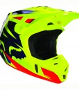 V2 Race Helmet Blue Yellow