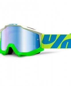 100% Accuri Motocross Goggles - Barracuda - Blue Mirror Lens