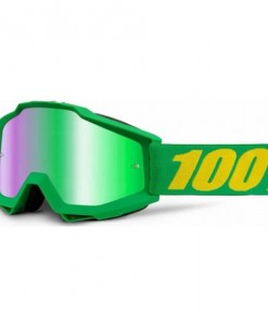 2016 100% Accuri Motocross Goggles - Forrest - Green Mirror Lens
