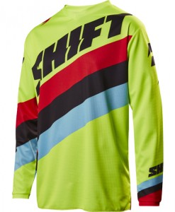 2017 Shift Whit3 Tarmac Jersey Flo Yellow