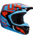 2017 Fox V1 Falcon Helmet Black Orange