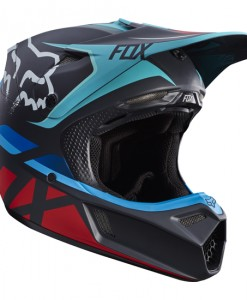 2017 Fox V3 Seca Helmet Grey Red