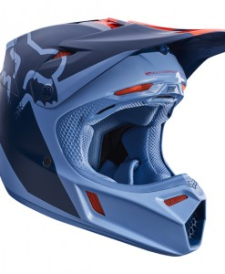 2017 Fox V3 Libra Helmet Orange Blue