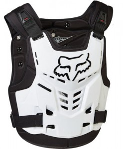 2017 Fox Pro Frame LC Chest Guard White