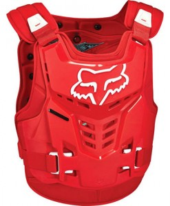 2017 Fox Youth Pro Frame LC Chest Guard Red
