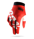 2017 100% iTrack Gloves Fire Red