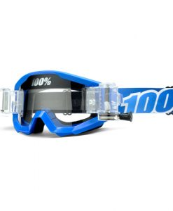 100% Strata SVS Motocross Goggles - Blue - Roll Off System