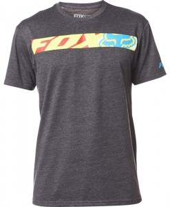 2017 Fox Transport Race SS Tee Heather Black