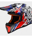 LS2 Helmet MX437 Strong White Blue Red
