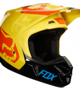 2018 Fox V2 Preme Helmet-Black/Yellow