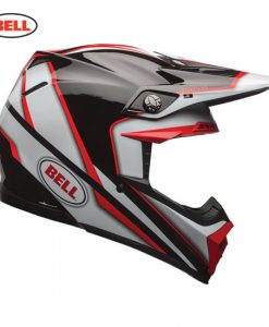 Bell Moto-9 Spark Helmet-Red/Black
