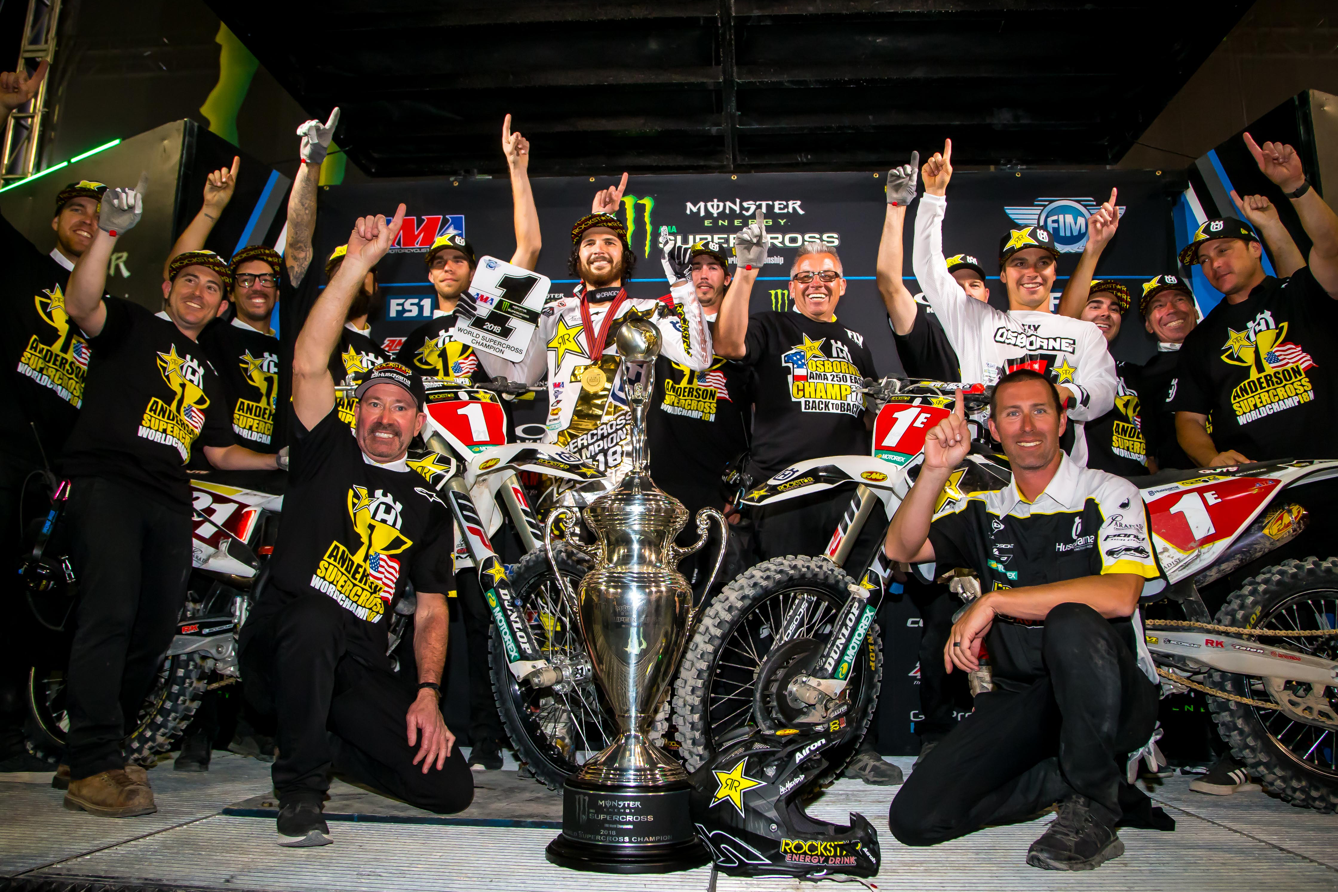 6c674ddfd52 ROCKSTAR ENERGY HUSQVARNA FACTORY RACING MAKES HISTORY AS ANDERSON AND  OSBORNE ARE CROWNED SUPERCROSS CHAMPS IN LAS VEGAS! - GH Motorcycles