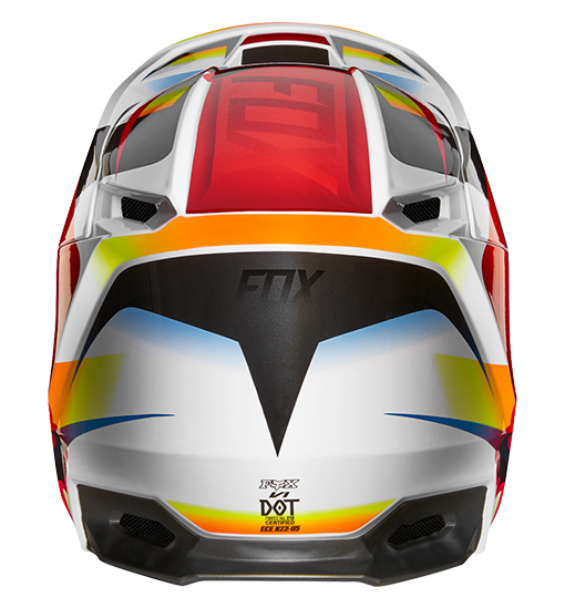 Fox Helmet V-1 Motif Red//White L